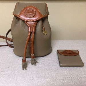 Dooney & Bourke leather backpack and wallet